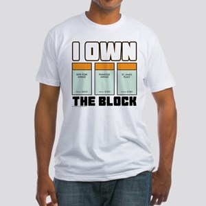 Monopoly - I Own The Block Fitted T-Shirt