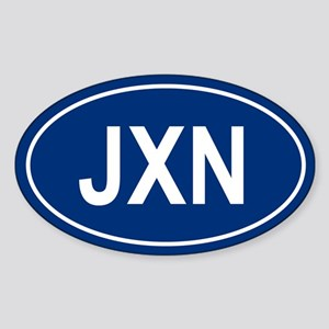 JXN Oval Sticker