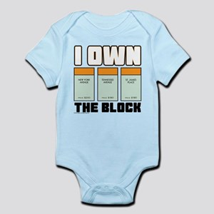 Monopoly - I Own The Block Baby Light Bodysuit