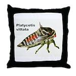 Oak Treehopper nymph Throw Pillow