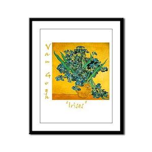 Irises Framed Panel Print