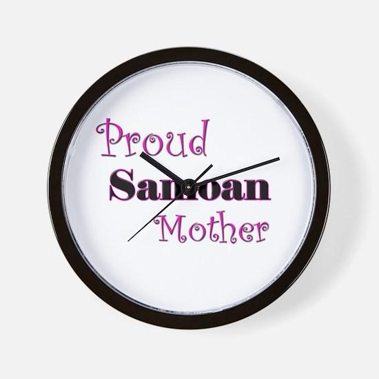 Proud Samoan Mother Wall Clock