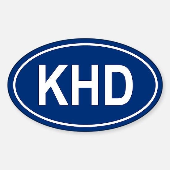 KHD Oval Decal