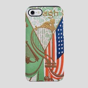 Irish American Flags Erin Go B iPhone 7 Tough Case