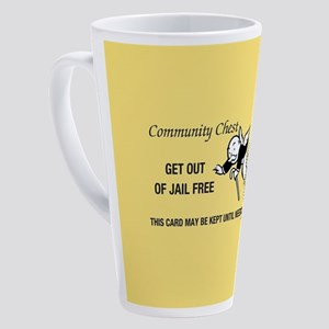 Monopoly - Get Out Of Jail Free 17 oz Latte Mug