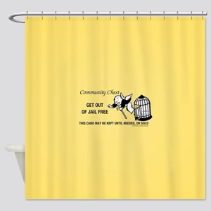 Monopoly - Get Out Of Jail Free Shower Curtain