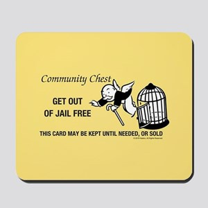 Monopoly - Get Out Of Jail Free Mousepad