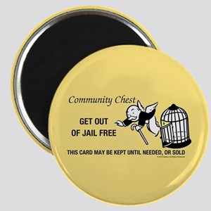 Monopoly - Get Out Of Jail Free Magnet