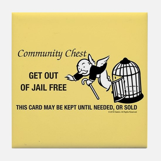 Monopoly - Get Out Of Jail Free Tile Coaster