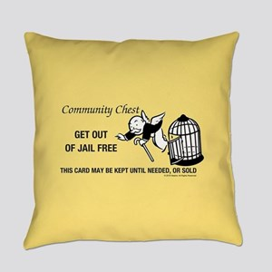 Monopoly - Get Out Of Jail Free Everyday Pillow