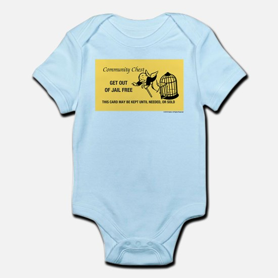 Monopoly - Get Out Of Jail Fre Baby Light Bodysuit