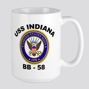 USS Indiana BB 58 Large Mug