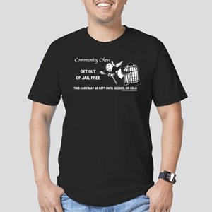 Monopoly - Get Out Of Men's Fitted T-Shirt (dark)