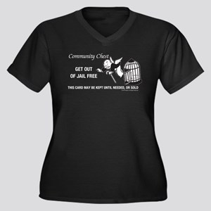 Monopoly - G Women's Plus Size V-Neck Dark T-Shirt