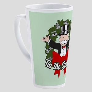 Monopoly - Tis The Season 17 oz Latte Mug
