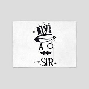 Steampunk Top Hat Like a Sir 5'x7'Area Rug