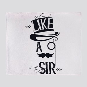 Steampunk Top Hat Like a Sir Throw Blanket