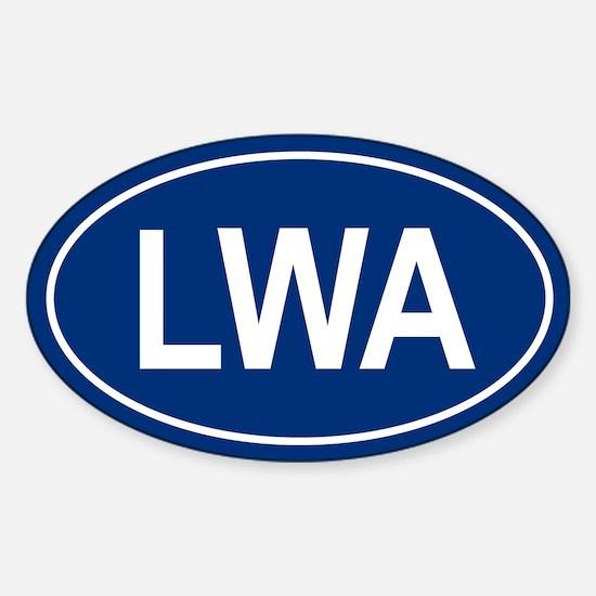 LWA Oval Decal