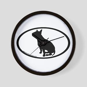 Bull Terrier Oval Wall Clock