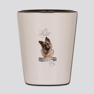 German Shepherd Best Friend Shot Glass