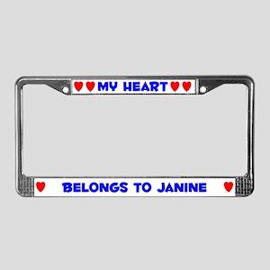 My Heart: Janine (#005) License Plate Frame