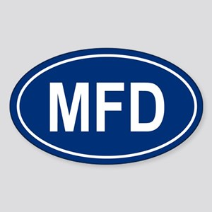 MFD Oval Sticker