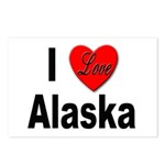 I Love Alaska Postcards (Package of 8)