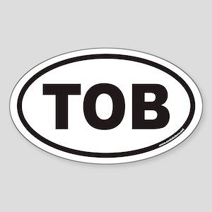 TOB Euro Oval Sticker