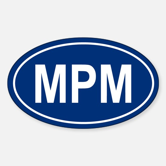 MPM Oval Decal