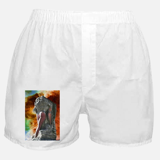 Merging of a Naked Man Boxer Shorts