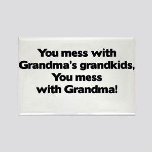 Don't Mess with Grandma's Grandkids! Rectangle Mag
