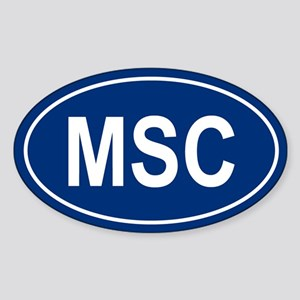 MSC Oval Sticker