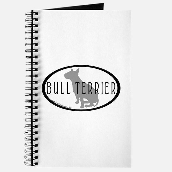 Bull Terrier Oval w/Text Journal