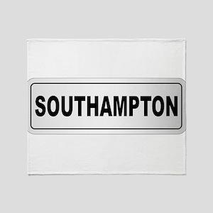 Southampton City Nameplate Throw Blanket