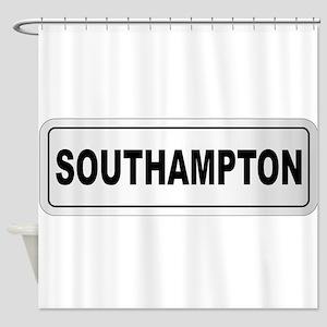 Southampton City Nameplate Shower Curtain