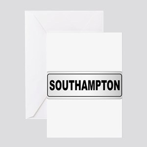 Southampton City Nameplate Greeting Cards