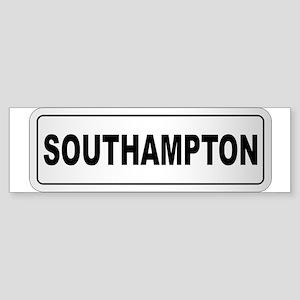 Southampton City Nameplate Bumper Sticker