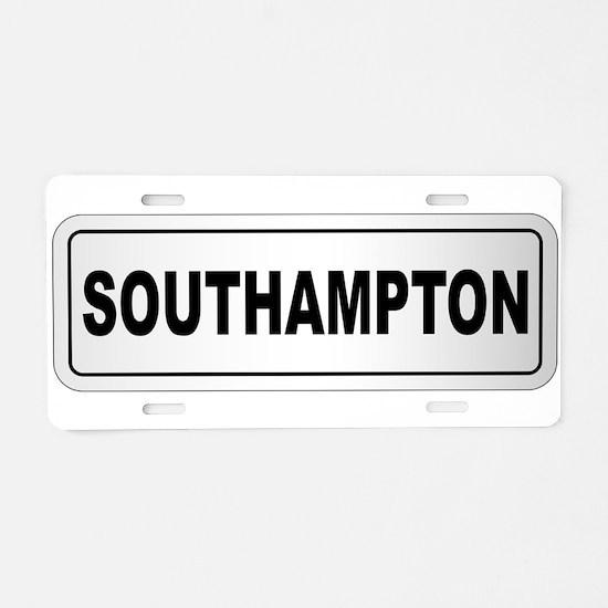 Southampton City Nameplate Aluminum License Plate