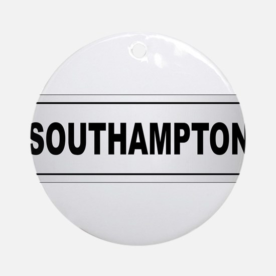 Southampton City Nameplate Round Ornament