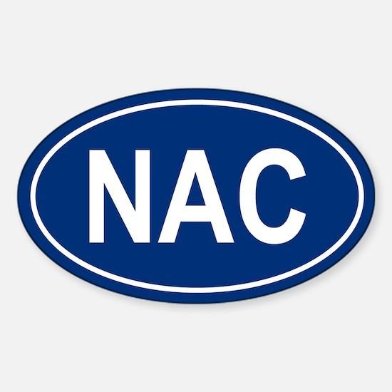 NAC Oval Decal