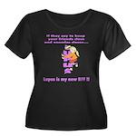 Lupus new BFF Women's Plus Size Scoop Neck Dark T-