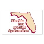 Florida has E.D. Rectangle Sticker
