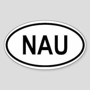 Nauru Oval Sticker