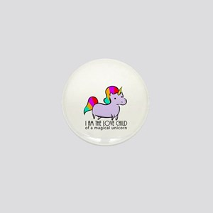Gay Magical Unicorn Mini Button