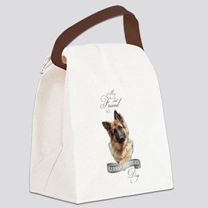 German Shepherd Best Friend Canvas Lunch Bag