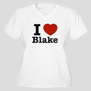 I love Blake Women's Plus Size V-Neck T-Shirt
