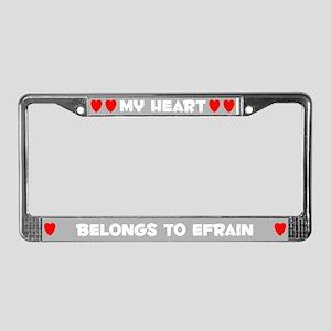 My Heart: Efrain (#006) License Plate Frame