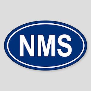 NMS Oval Sticker