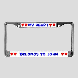 My Heart: John (#005) License Plate Frame