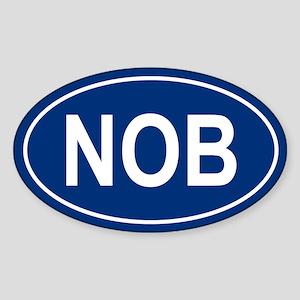 NOB Oval Sticker
